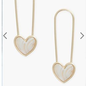 NWT LUCKY BRAND Safety Pin heart earrings
